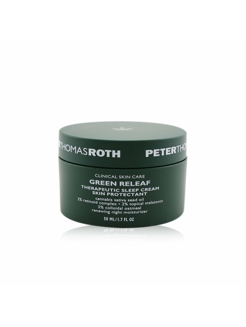 Peter Thomas Roth Men's Renewing Night Moisturizer (Exp. Date: 07/2021) Green Releaf Therapeutic Sleep Cream Skin Protectant Balms &