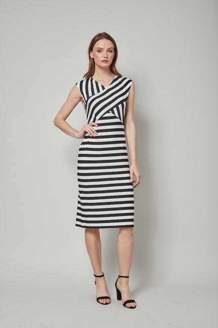 Dora Landa Stripe Sleeveless Dress