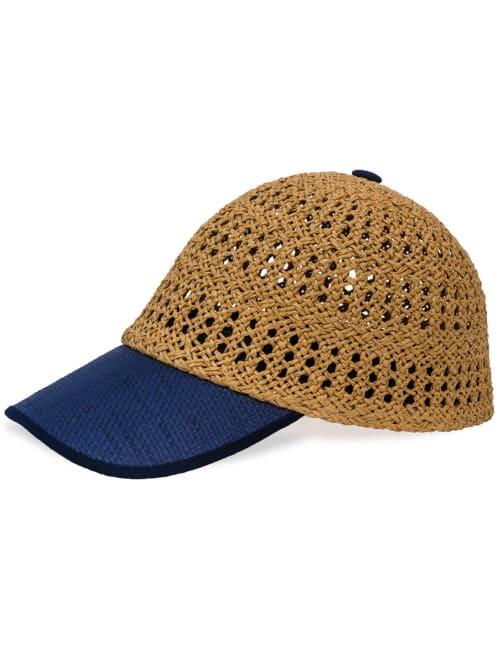 Cutout Woven Straw Baseball Cap