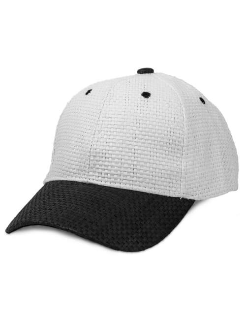 Color Block Straw Baseball Cap