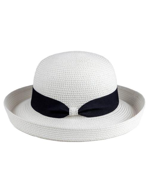 Ribbon Straw Kettle Hat