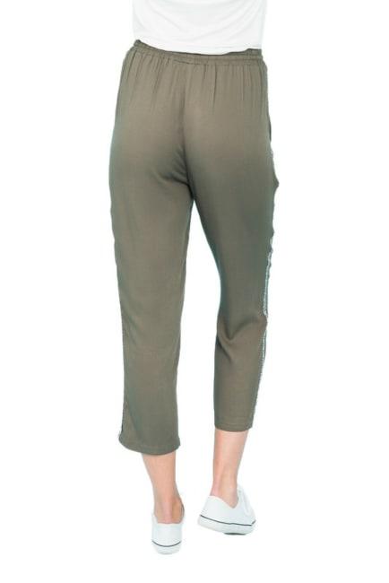 DR2 Boho Paper Bag Waist Pants With Pockets