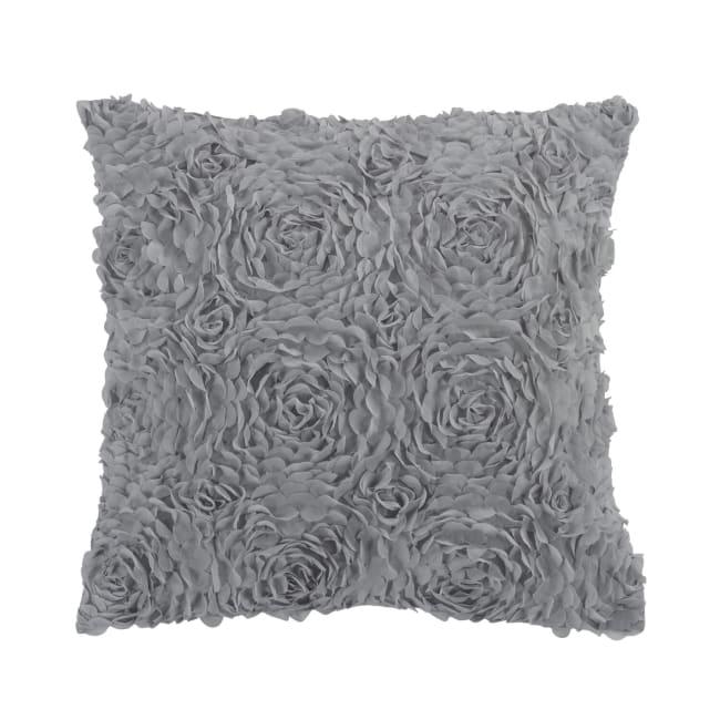 Decorative Pillow, Rose (Grey)