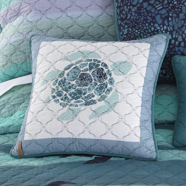 Decorative Pillow, Summer Surf (Sea Turtle)