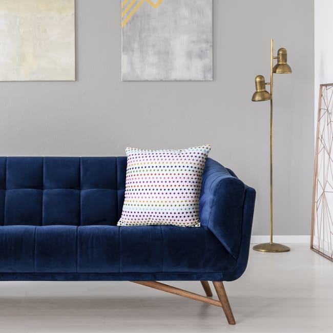 Decorative Pillow, Colorful Dots