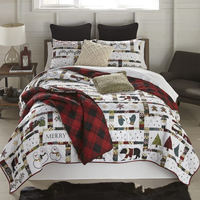 Twin Quilt Set, Merry Vacation