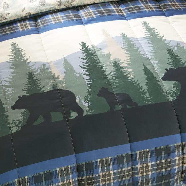 Queen Comforter Set, Bear Journey Blue