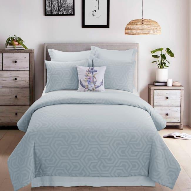 King Comforter Set, Soft Blue
