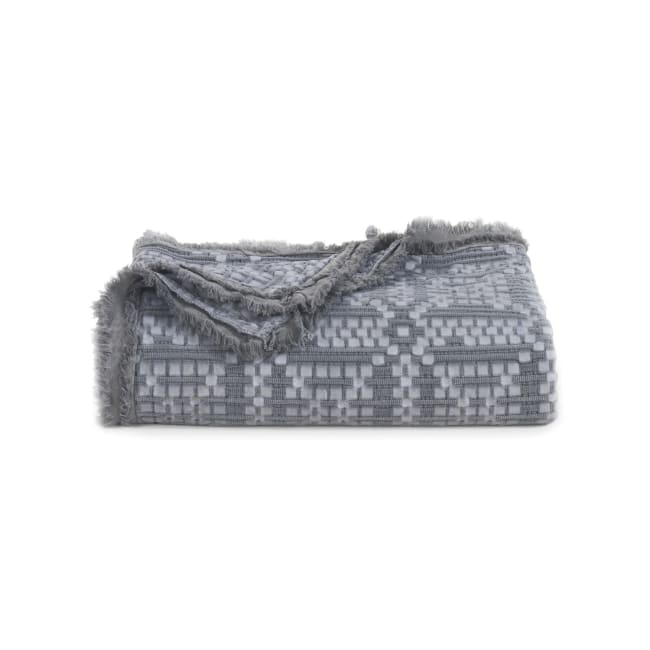 Throw (Oversized) Gw Grid Grey