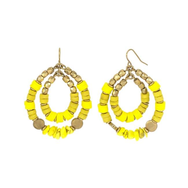 Carol Dauplaise Double Ring Hoop Earrings
