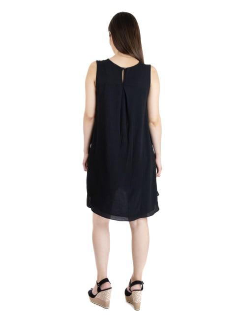 24Seven Comfort Apparel Sleeveless Knee Length Maternity Tunic Dress