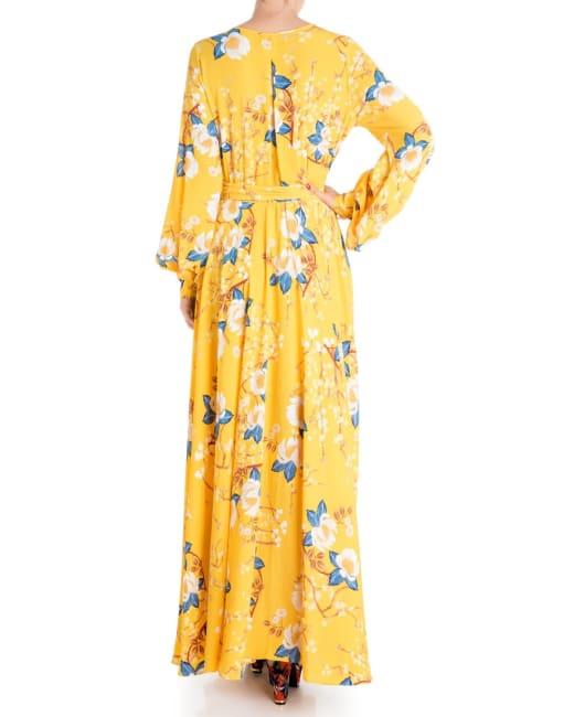Lilypad Maxi Dress - Gold Lotus