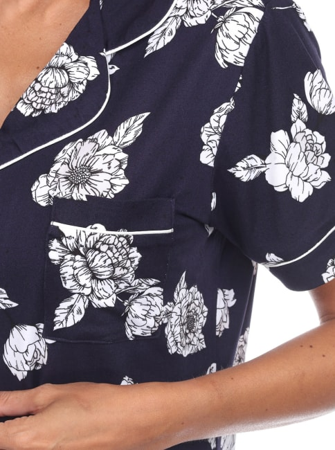 Short Sleeve Floral Pajama Set