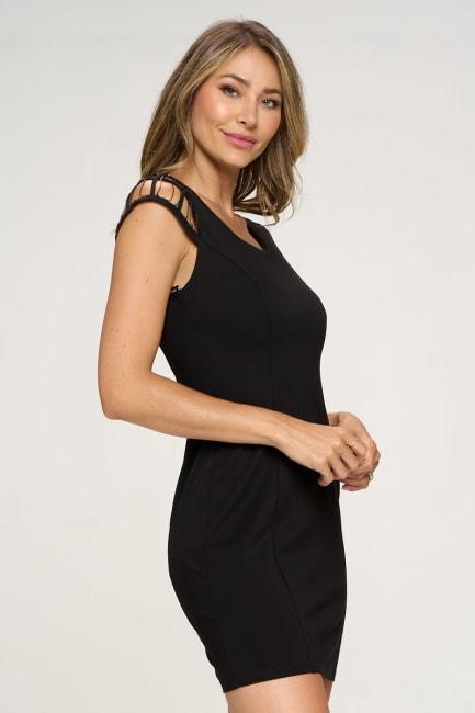 KAII Sleeve Chain Detail Ponti Dress