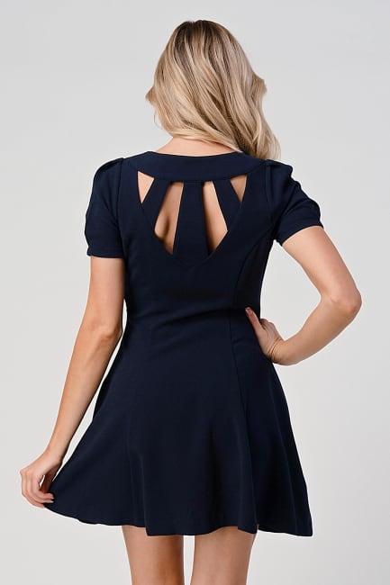 KAII Open Back Panel Princess Line Dress