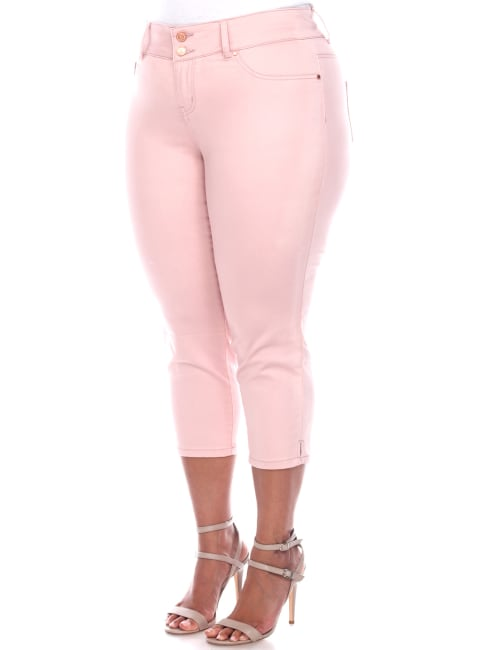 Super Stretchy Capri Denim Jeans - Plus
