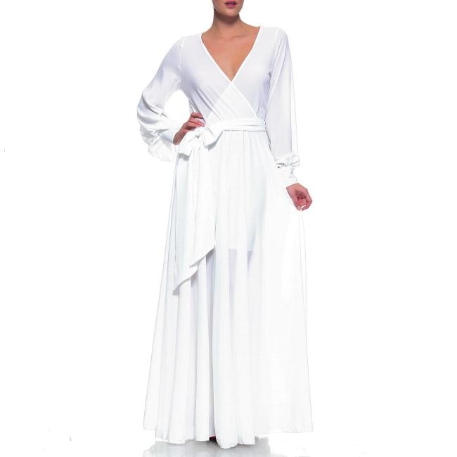 Lilypad Maxi Dress - White