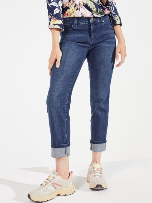 Peck & Peck Signature Girlfriend 5 Pocket Jeans With Selvedge Cuff