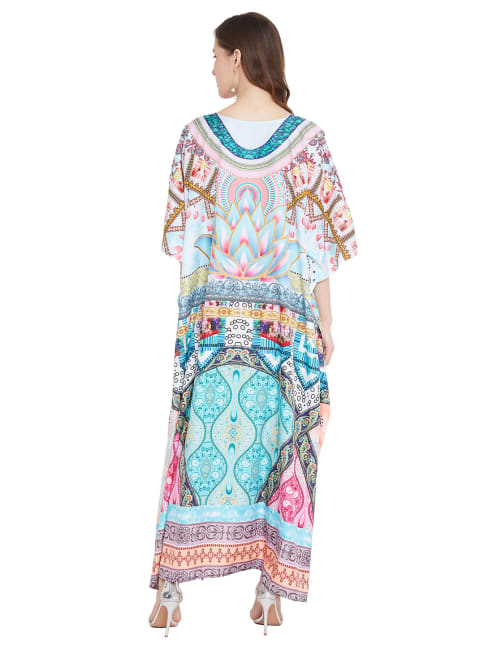 Paisley Patten Loose Kaftan Dress - Plus