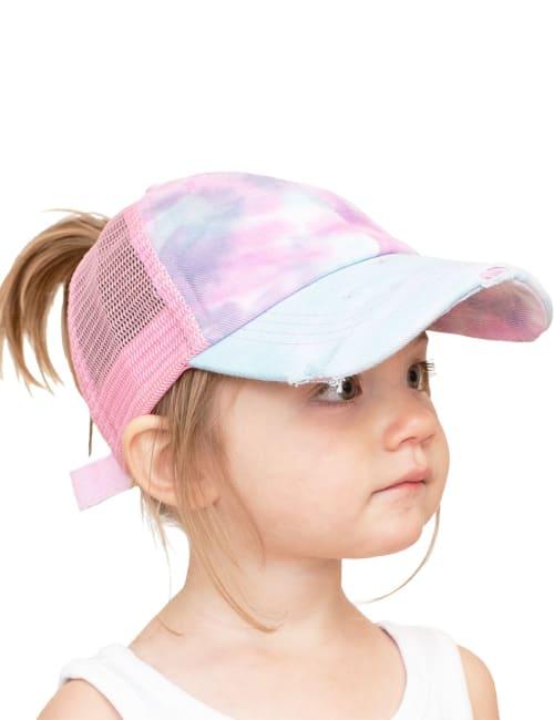 CC Kid Tie-Dye Criss-Cross Pony Cap