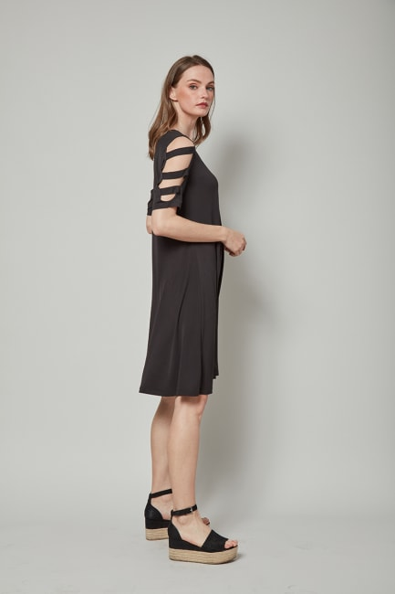 Dora Landa Ladder Detail Sleeve Dress