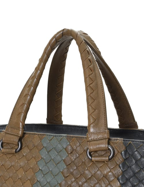Pre-Loved Bottega Veneta Intrecciato Two Way Tote Bag