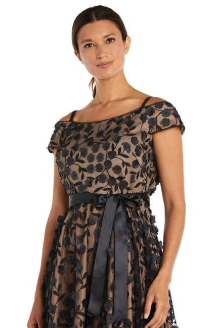 Tea Length Off the Shoulder Floral Dress