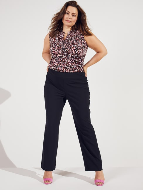 Needle & Cloth  Pull On Tummy Control Pants With L Pockets -Short Length Plus