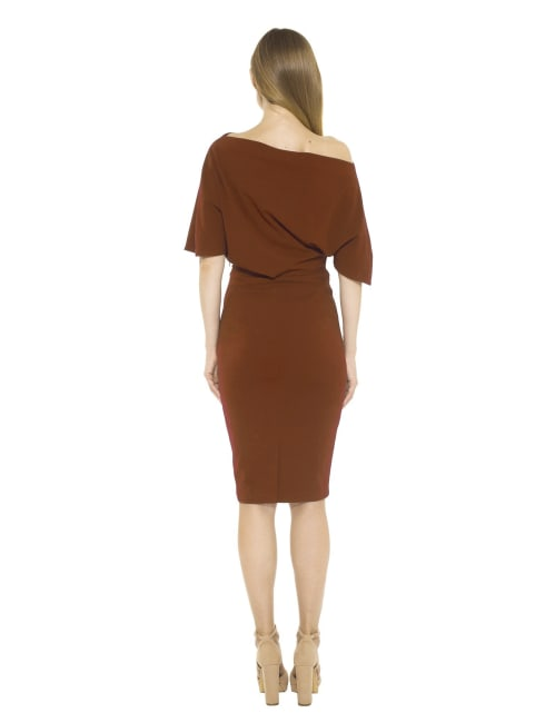 Olivia Draped One Shoulder Sheath Dress
