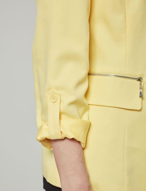 Dora Landa Zipper Pocket Boyfriend Blazer