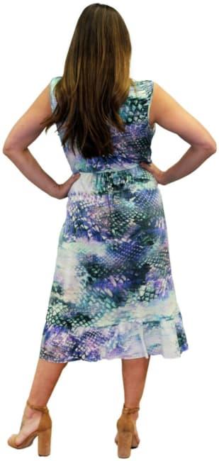 Sienna Rose Ruffle Hi-Lo V-Neck Dress