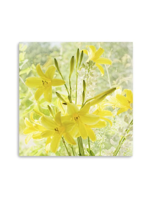 Lemon Lilies Canvas Giclee