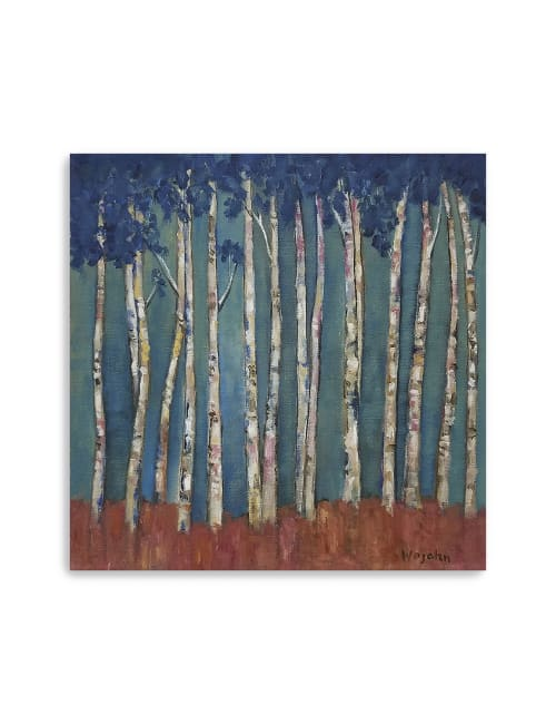 Blue Trees Canvas Giclee