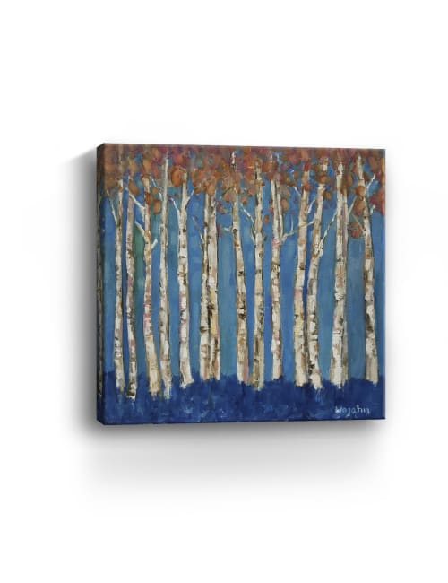 Trees Pink Canvas Giclee