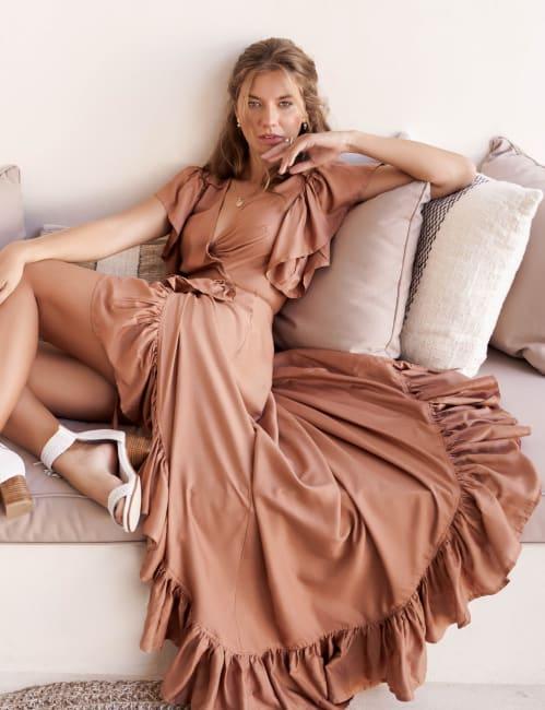 Carmen Wrap Maxi Dress - Plus