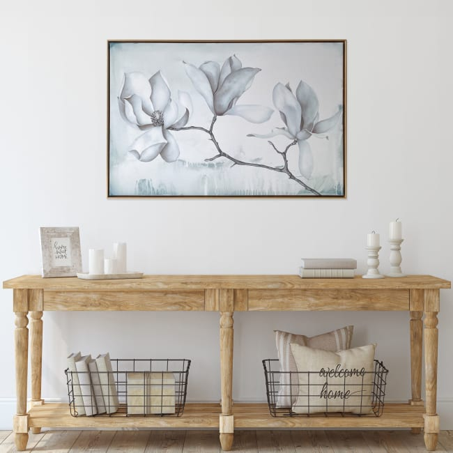 Magnolia Branch Floating Canvas 24x36