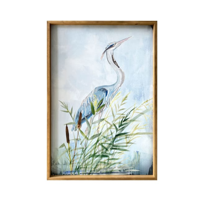 Heron Wood Framed Canvas 24x36