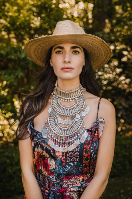 Bodrum Coin Collar Necklace In Silver