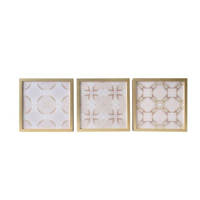 Blush Pattern 18x18 set of 3