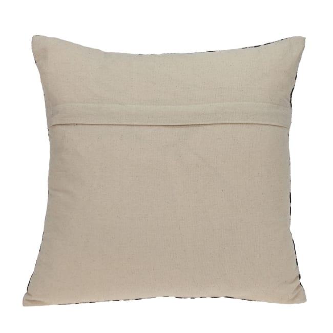 Black and White Abstract Velvet Throw Pillow