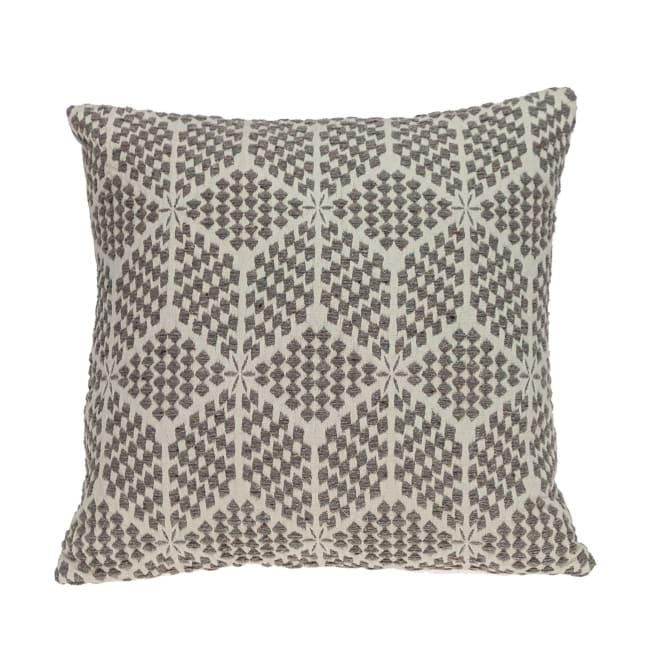 Beige Geometric Throw Pillow