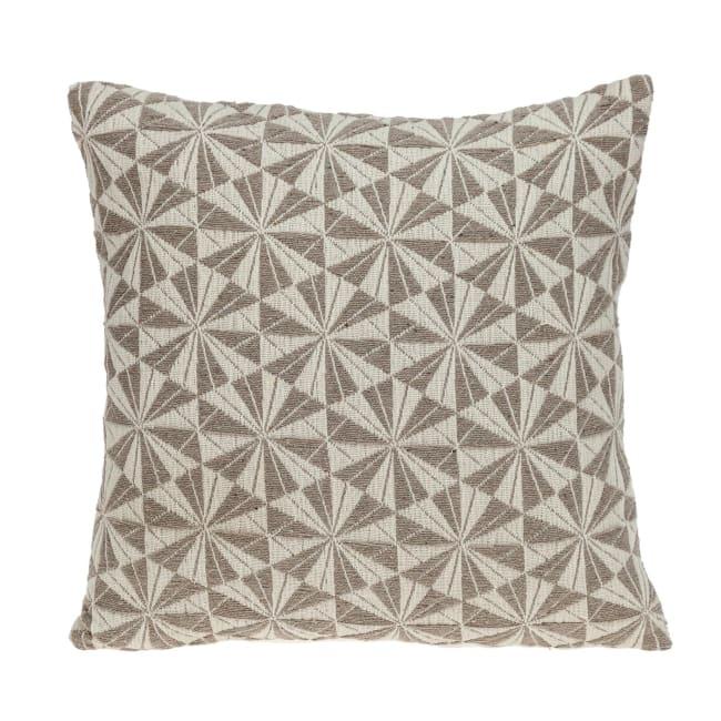 Pale Brown Pinwheels Throw Pillow