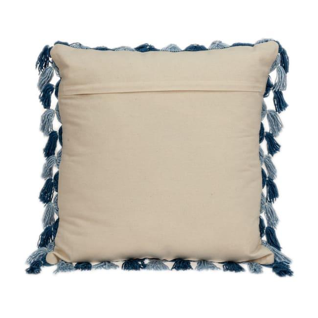 Rustic Bohemian Blue Throw Pillow