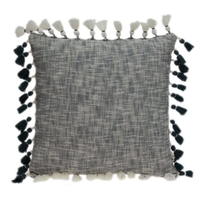 Slate Grey Throw Pillow