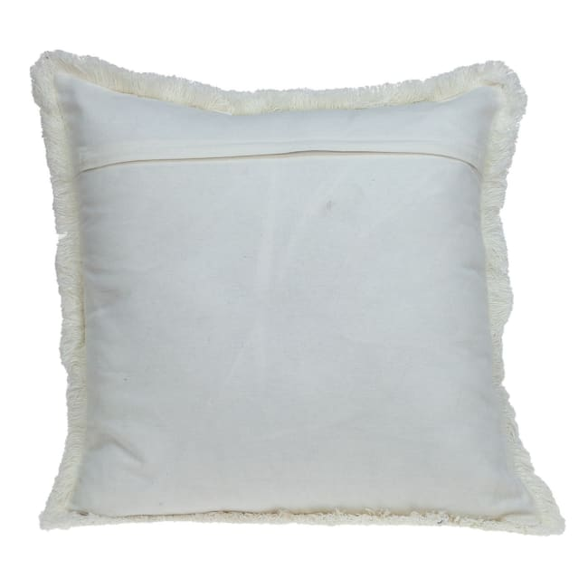 Chambray Blue and White Throw Pillow