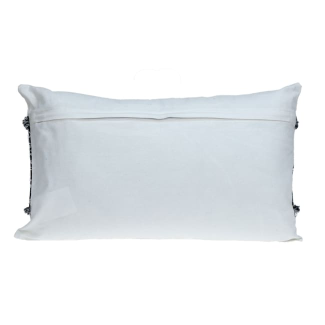 Black and White Patched Throw Pillow