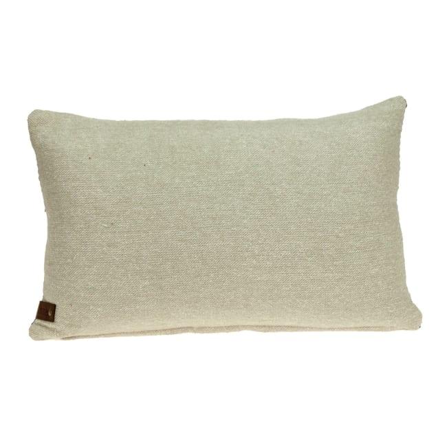 Oatmeal Stripe Weave Lumbar Throw Pillow