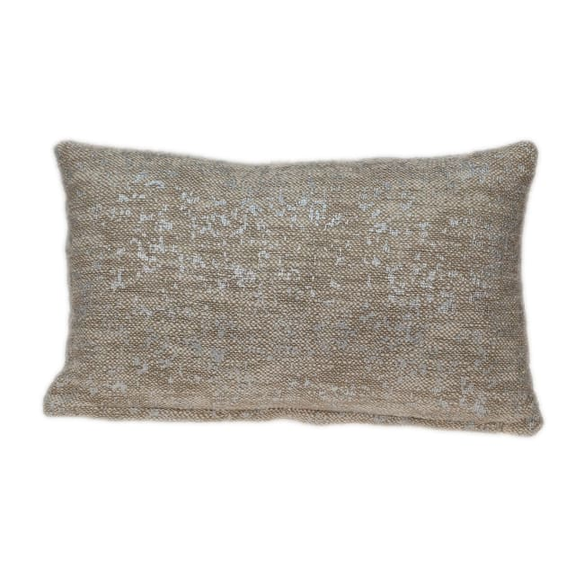 Natural Wheat and Silver Throw Pillow