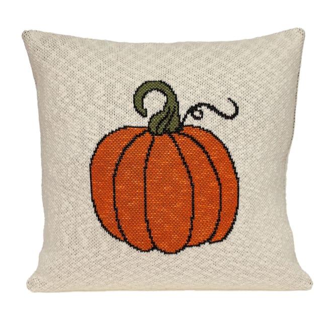 Pumpkin Silhouette Throw Pillow