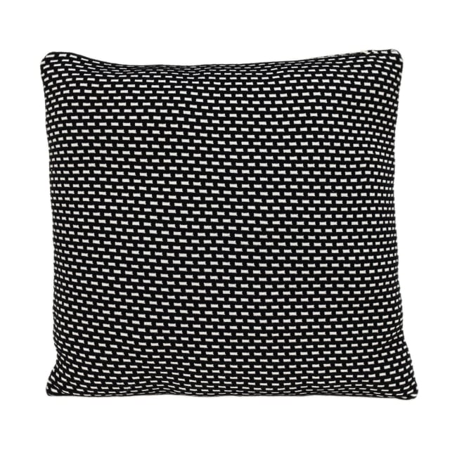 Super Black and White Check Throw Pillow
